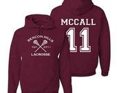 Scott Mccall 11 Teen Wolf Beacon Hills Inspired Lacrosse Adult Fashion Hoodie