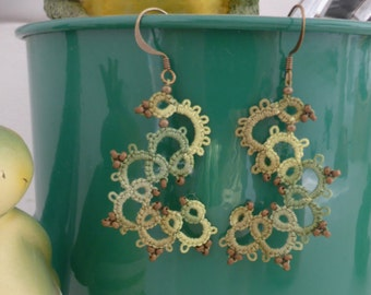 "Earrings ""Waterlily"""