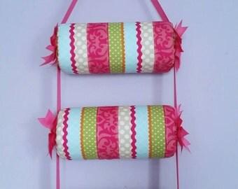 head band holder or headband holder / organizer Decorative Stripes , triple - 3 tiers holder