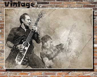 Volbeat 19x13 Print, Wall Art, Poster, Instagram, Copenhagen, Denmark, Heavy Metal, Hard Rock, Anthrax, Michael Poulsen, Rob Caggiano