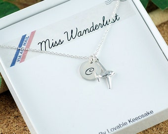 Wanderlust Necklace - Airplane necklace - Wanderlust Jewelry - Gift for traveler - Travel jewelry - Airplane Jewelry