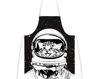 Cat Space Suit Apron