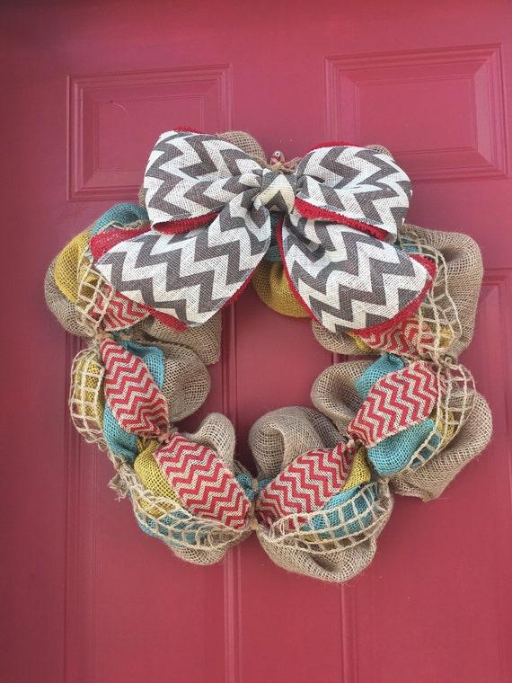 Summer wreath year round wreath colorful wreath by for Colorful summer wreaths