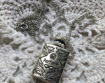 Vintage Style Perfume Bottle Handmade Necklace