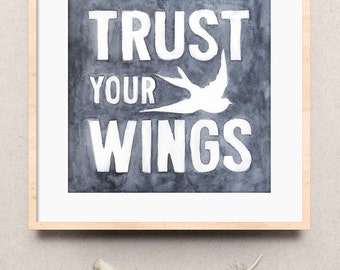Art Print | Trust Your Wings | Createwings Designs | Wall Art