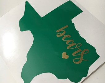 Baylor sticker | Baylor vinyl | Baylor decal | Baylor Bears | sic em bears | waco | Texas | Sticker |Yeti sticker | car decal | Double Layer