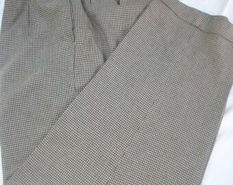 Vintage Pair of TOMMY HILFIGER Rayon/Wool Houndstooth Pants Sz 36/32