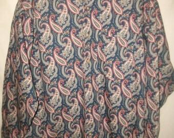 Vintage 1990's Men's Arrow Paisly 100% cotton Shirt Sz XL