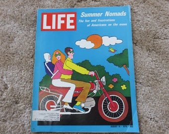 LIFE Magazine August 14, 1970 Summer Nomads the fun and frustrations of Americans on the move