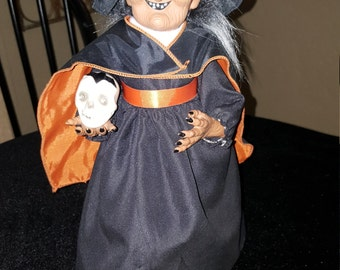 Halloween witch vintage halloween witch animated light up witch