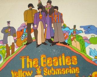 The Beatles vinyl record, Yellow Submarine vintage record album