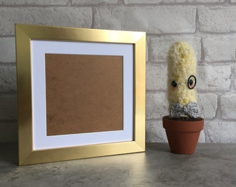 8 x 8 Inch Wooden Picture Frame in Gold