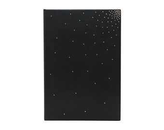 Case of iPad Mini in black leather hand-decorated