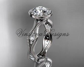 Platinum diamond engagement ring VD10081