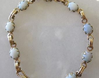 Vintage Opal and Gold Plated Bracelet