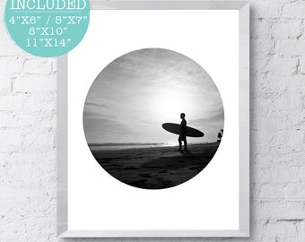 Beach Photo, Summer Art, Surf Photography, Ocean Poster, California Print, Summer Decor, Beach Print, Beach Photography, Surfing Art