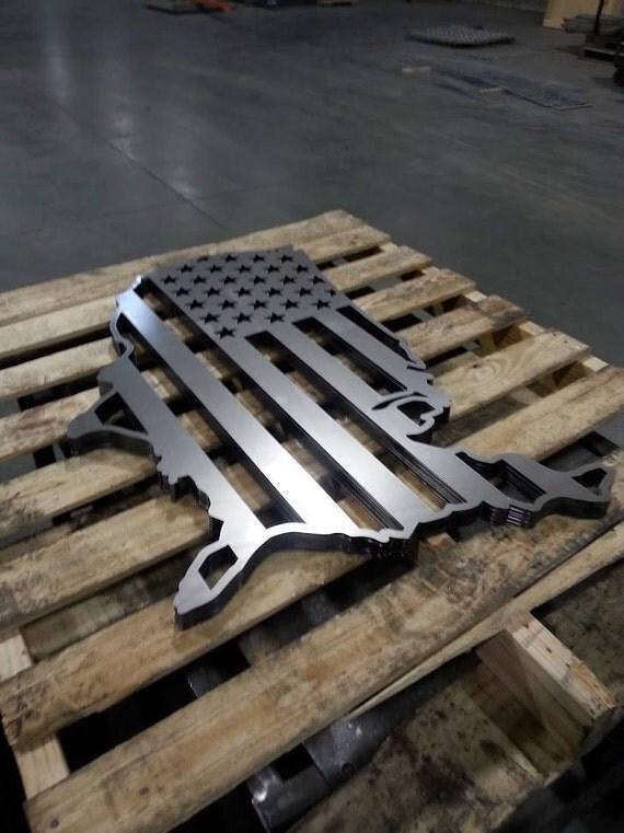 Usa Flag Metal Wall Decor