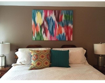 SOLD!! Acrylic abstract multi-colored painting