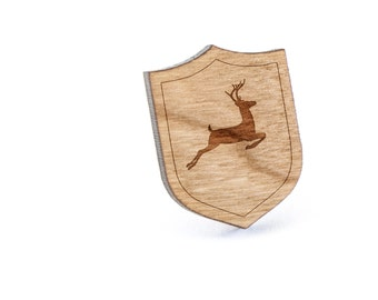 Deer Lapel Pin, Wooden Pin, Wooden Lapel, Gift For Him or Her, Wedding Gifts, Groomsman Gifts, and Personalized