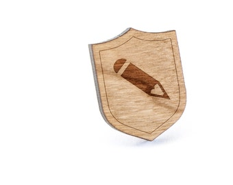 Pencil Lapel Pin, Wooden Pin, Wooden Lapel, Gift For Him or Her, Wedding Gifts, Groomsman Gifts, and Personalized