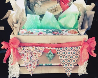Bohemian themed gift crate
