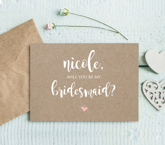 Will You Be My Bridesmaid Card INSTANT DOWNLOAD Printable