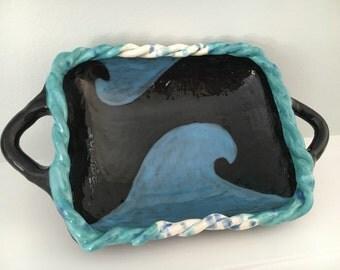 Ocean waves plate