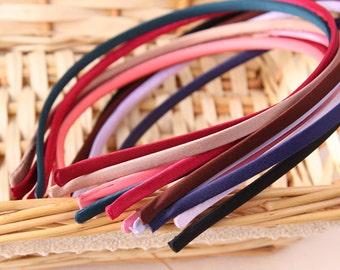 10 PCS 5mm Wide Multi-colored Metal cloth Headband , Blank Metal headband, Hair Accessories(1-107)