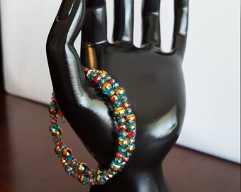 CLEARANCE Multi Colored Beaded Bracelet