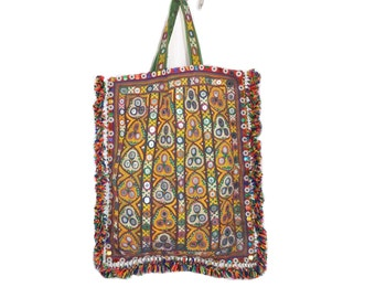 One Of Kind Kutchi Tote Bag Handmade Gypsy Banjara Bag