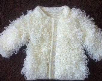 Baby loopy cardigans