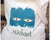 Alphabet monster tote bag for children gift bag changing bag shopper