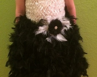 Feather tutu dress