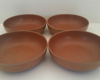 Lot of 4 Ellingers Agatized Wood Bowls, Vintage serving bowls, 1960's