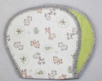 Pastel Animal Burp Cloth