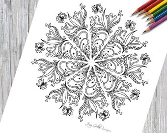 Adult Colouring Page Whimsical 1