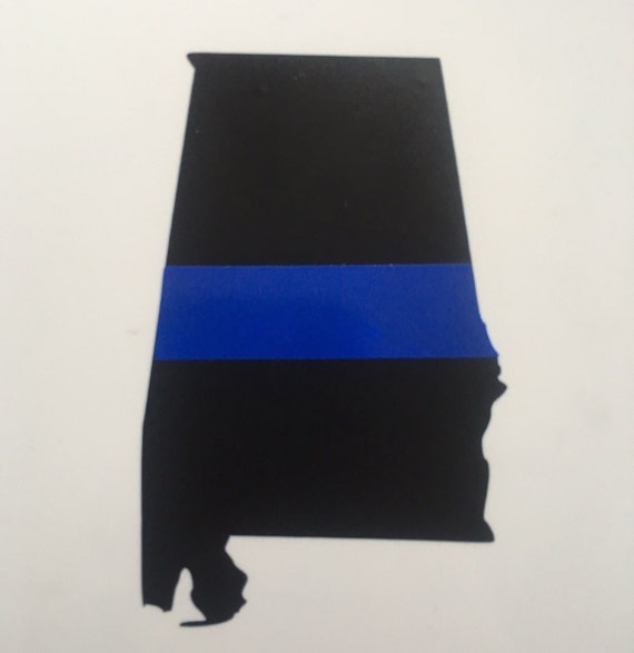 4 alabama thin blue line decal by pinkcamelliadesigns on etsy. Black Bedroom Furniture Sets. Home Design Ideas