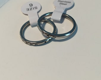 2 mm scripture with hearts ring