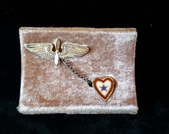 WWII Silver Sweetheart pin set