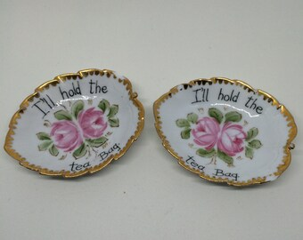 Vintage Tea Bag Holders- Set of 2