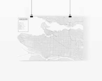 Vancouver, Canada City Map