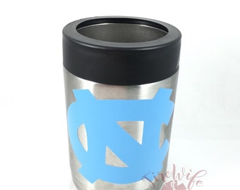 Personalized stainless steel, double wall, vacuum sealed, can or bottle holder