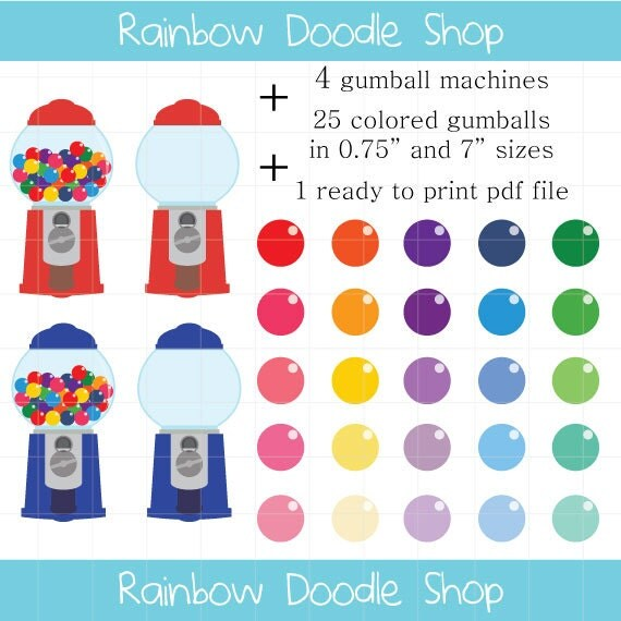 Gumball Machine Clipart Colorful Candy Clipart Gumball Clip