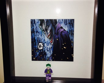 DC Lego The Joker comic print picture frame gift