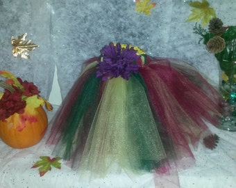 All Purples of fall Tutu 12m-4t