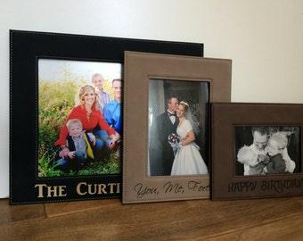 Personalized Frame, Picture Frame, Frames, Photo Frame, Custom Frame, Wall Frame, Leather Frame, Family Portrait, Birthday, Christmas, Gift