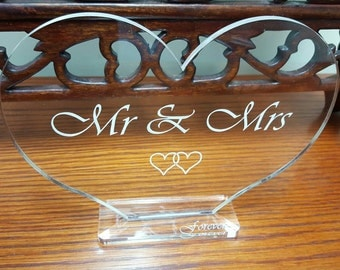Mr & Mrs Table Decoration