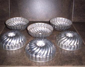 Set of 6 Jello Tins