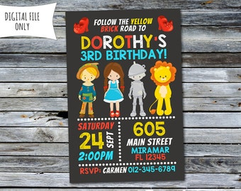 Wizard Of Oz Invitation / Wizard Of Oz Birthday Invitation / Oz Invitation (Personalized) Digital Printable File