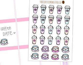 Coffee Lovers Doodle Sticker